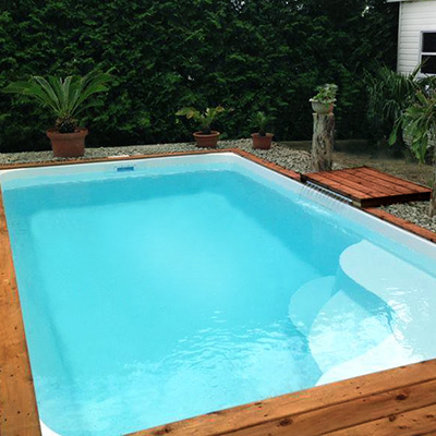 MERINA pool, polyester shell