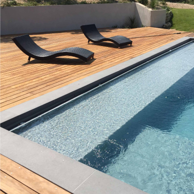 ROUSSILLON 2 immersed pool shutter with submerged duct board