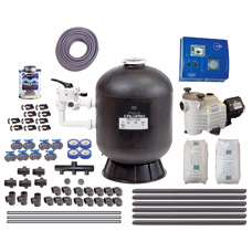 Complete filtration pack for pools