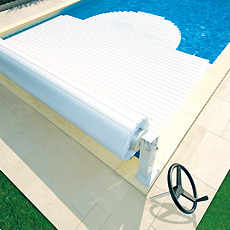 Abriblue manual above ground pool shutter
