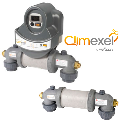 Climexel titanium heat exchanger