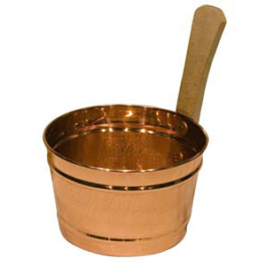 Copper sauna bucket