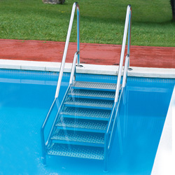 Easy Access Stainless Steel Pool Step Ladder With Double Handrail