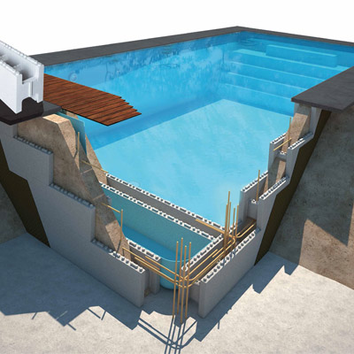ASTRAL First Bloc concrete pool kit