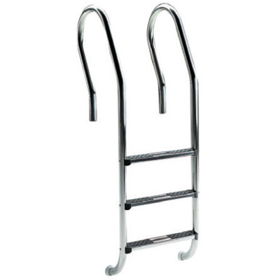 Astralpool stainless steel pool ladder with mixed handrail