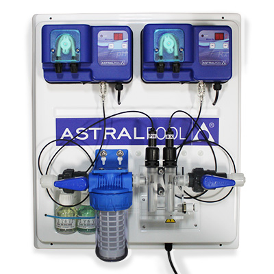 ASTRALPOOL regulating board with chlorine and pH automatic peristaltic dosing pumps