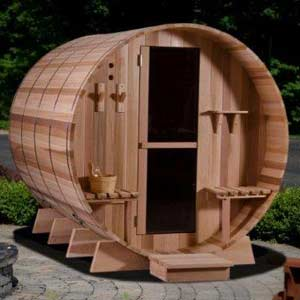Barrel traditional steam sauna