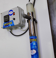 Ozone treatment, pool water disinfection