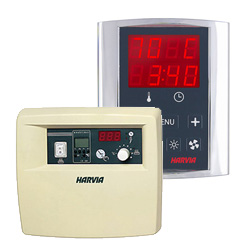 Harvia control units for saunas