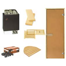 Steam sauna kit with stove