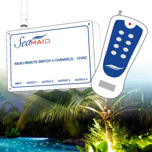 SeaMAID radio control module for pool projectors