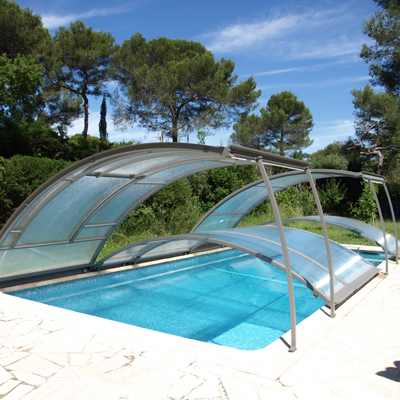MODULABRI low modular pool enclosure