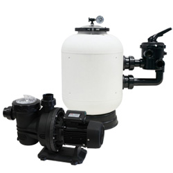 Caliente pump+sand filter pack for in-ground pools