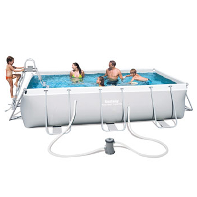Bestway rectangular POWER STEEL above ground pool - cartridge filtration