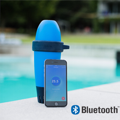 BLUE CONNECT + automatically and constantly measures the quality of your pool water