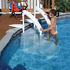 Festiva removable pool steps from Lumi-O, 4 step version