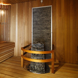 Harvia decorative stone-aspect wall panel for sauna