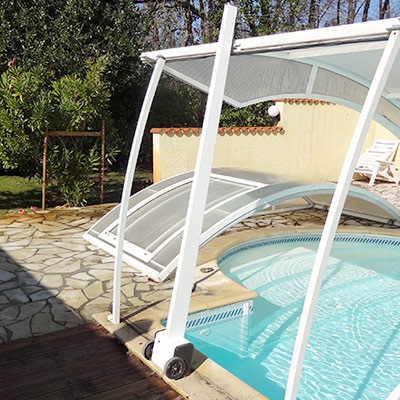 LIFT UP motorised unit for pool enclosures