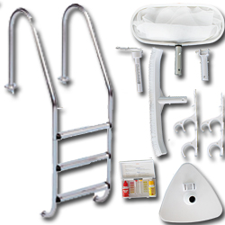 Tradipool inground pool ladder + cleaning kit