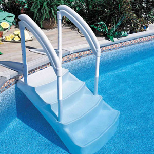 Lumi-O VOIE ROYALE removable pool steps, 4 step version