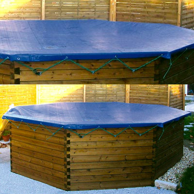 Winter cover for GARDIPOOL above ground wooden pool