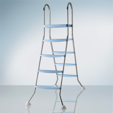 2 x 4 step Ladder for above ground pools with platform