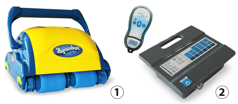 Transformer and remote Aquabot Viva electric pool cleaner