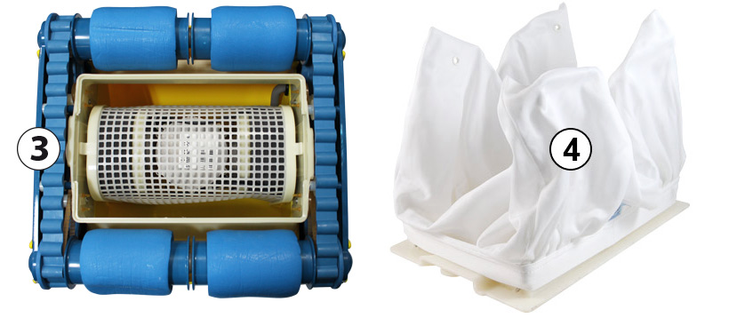 Undercarrige and filter bag Aquabot Viva electric pool cleaner