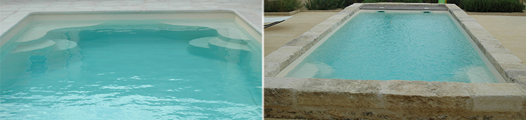 Stairs, ESTINA polyester shell pool