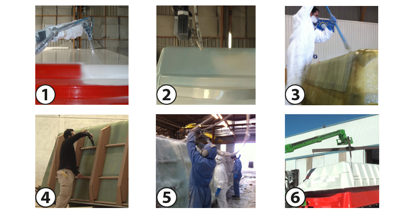 Manufacturing process Ilena polyester shell pool