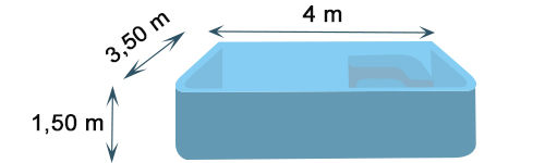 Dimensions of CANEA polyester shell pool