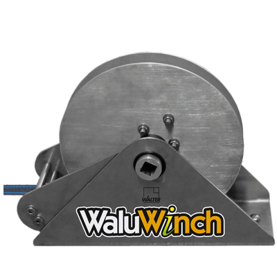 Walu WINCH unrolling system for barred security covers