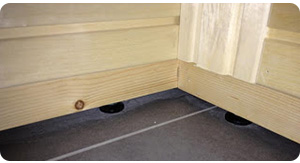 Adjustable legs Rubic sauna