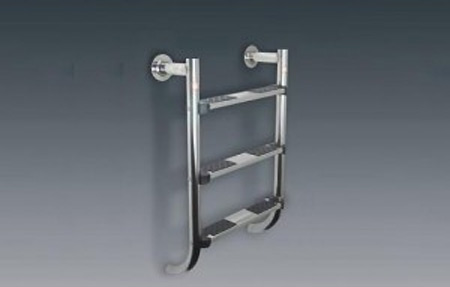 Astralpool stainless steel low pool ladder with anti slip steps