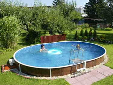 AZURO DE LUXE above ground steel pool semi inground