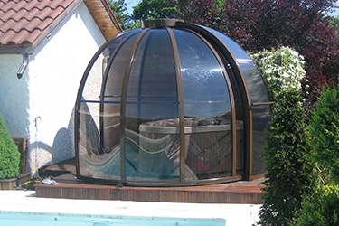 Round version of Bali spa shelter