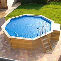 Summer covers and reels for GARDIPOOL above ground wooden pools