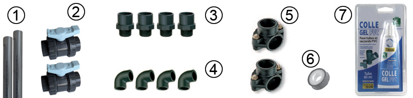 Composition plumbing connection kit