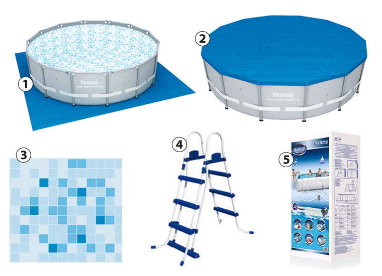 Bestway POWER STEEL round above ground pool Kit