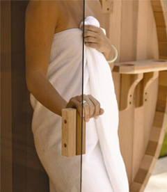 Door Barrel sauna
