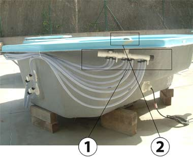Filtration and hydrotherapy elements