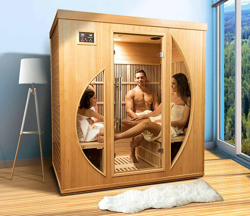 Full view COLORADO 4 place infrared sauna