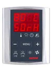 Griffin distance control unit with Harvia Rondium sauna