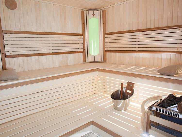 Harvia Colour Light therapy system for sauna in Rondium sauna with Exclusive interior design