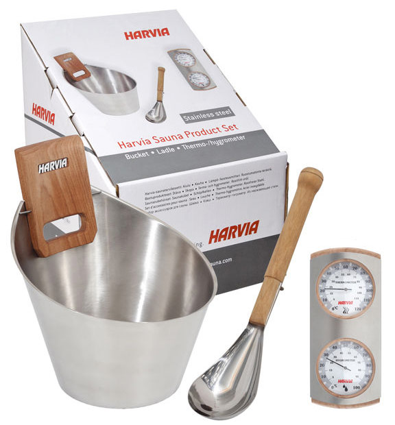 Harvia stainless steel sauna accessory kit