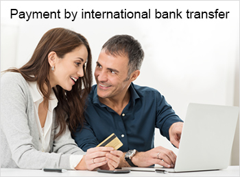 Payment by international bank transfer