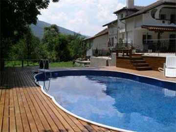 AZURO DE LUXE above ground steel pool inground