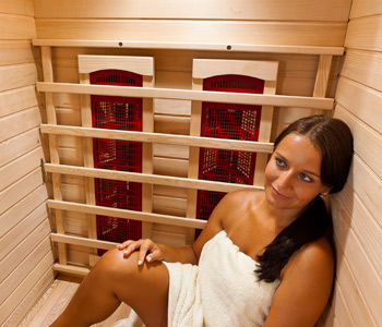 Inside view NEVADA 1 place infrared Sauna
