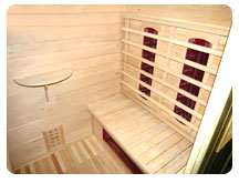 Inside view sauna