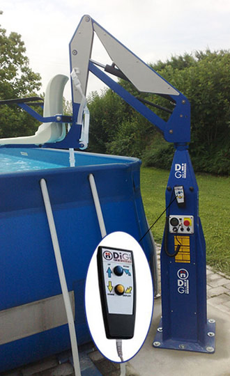 F100 static pool lift disabled pool access